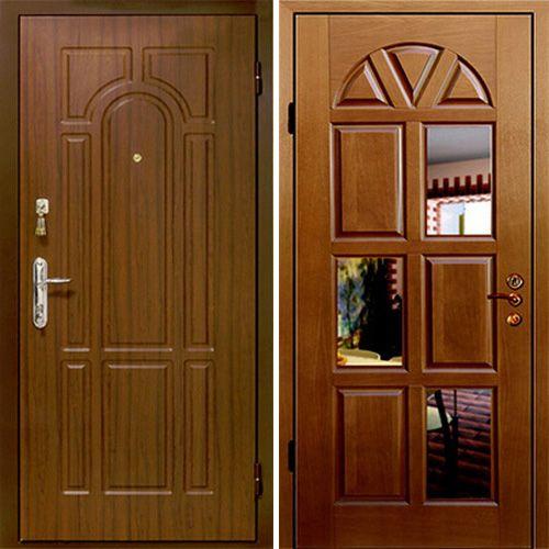 входные металлические двери с зеркалом премиум