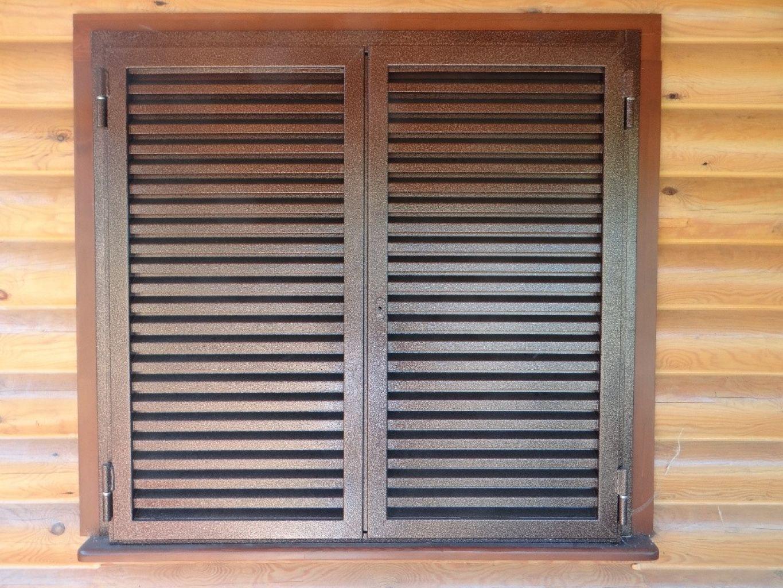 металлические ставни на окна декоративные