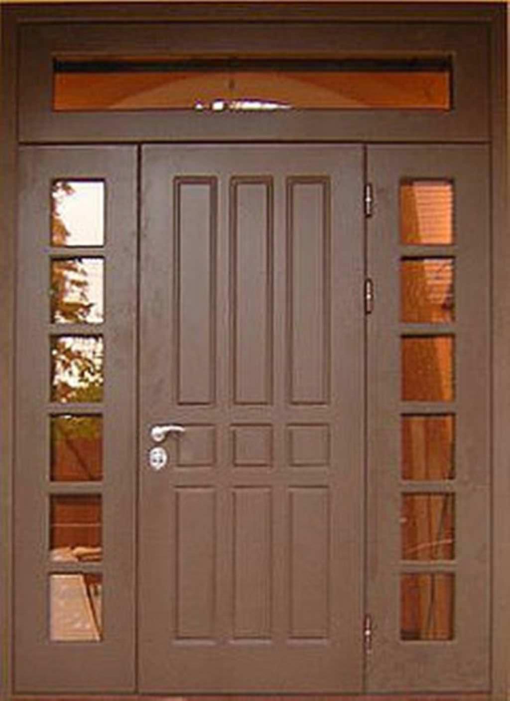 двухстворчатые входные металлические двери в парадную