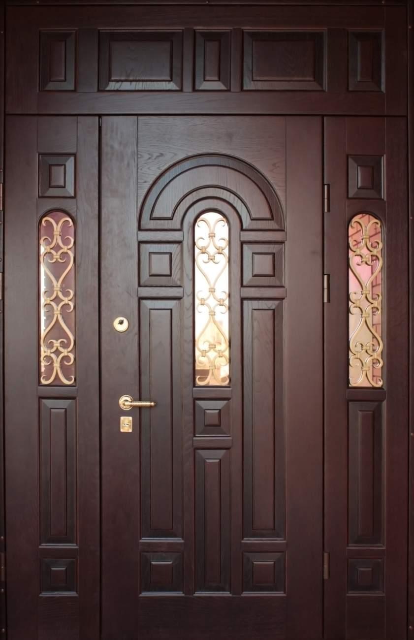 металлическая двер с вставкой
