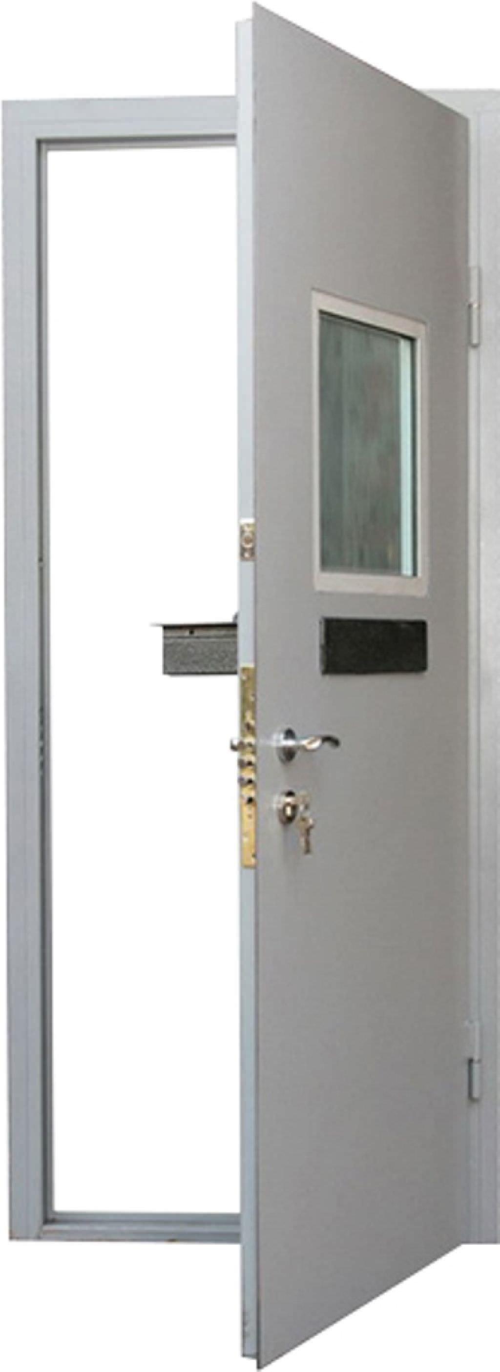 двери металлические с окошком