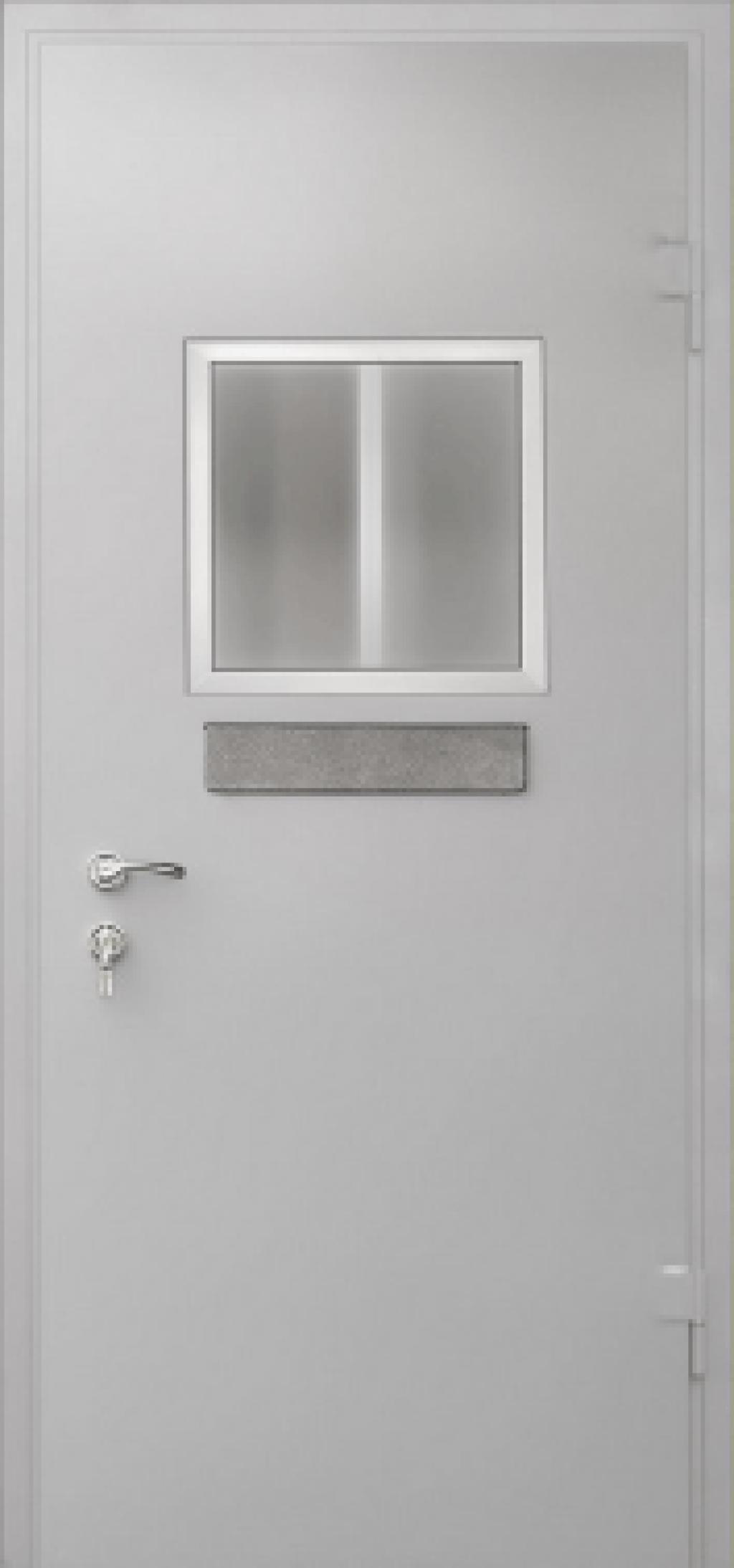 металлические двери с кассовым окном заказать