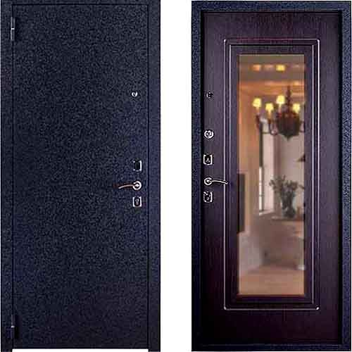 дверь входная металл с зеркалом
