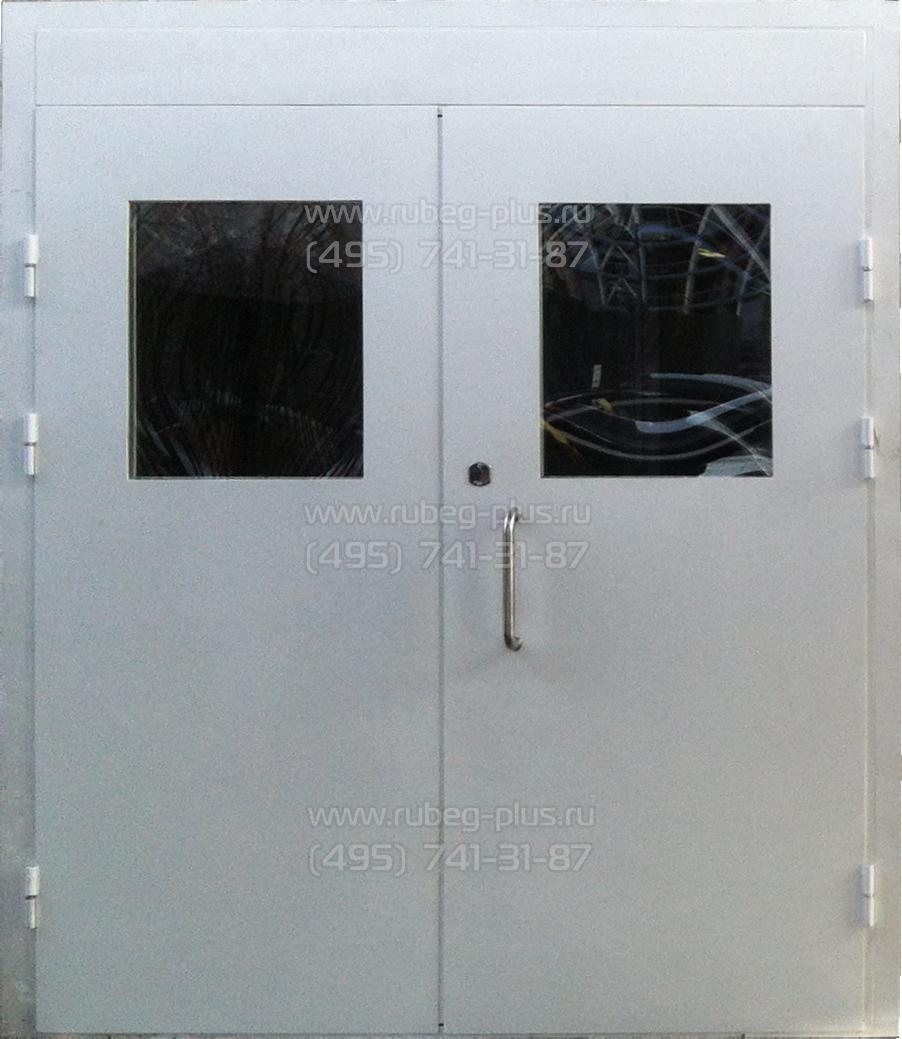входная двустворчатая дверь для офиса
