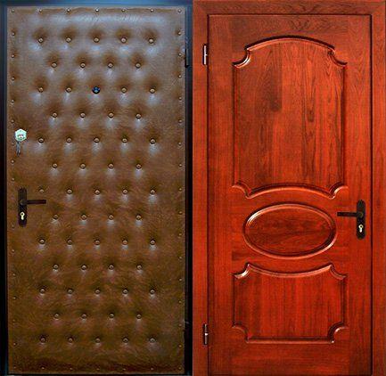 железная дверь дутая