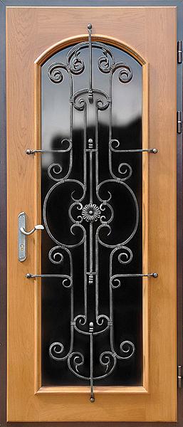 с ковкой входные красивые двери мдф классика