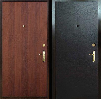 металлические двери винил с ламинатом