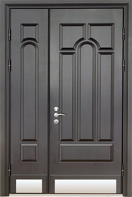 двери распашные двупольные металлические