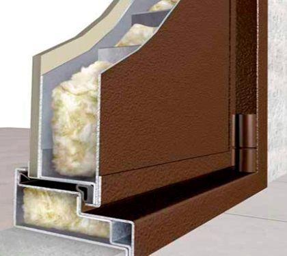 металлическая шумо и теплоизоляционная дверь