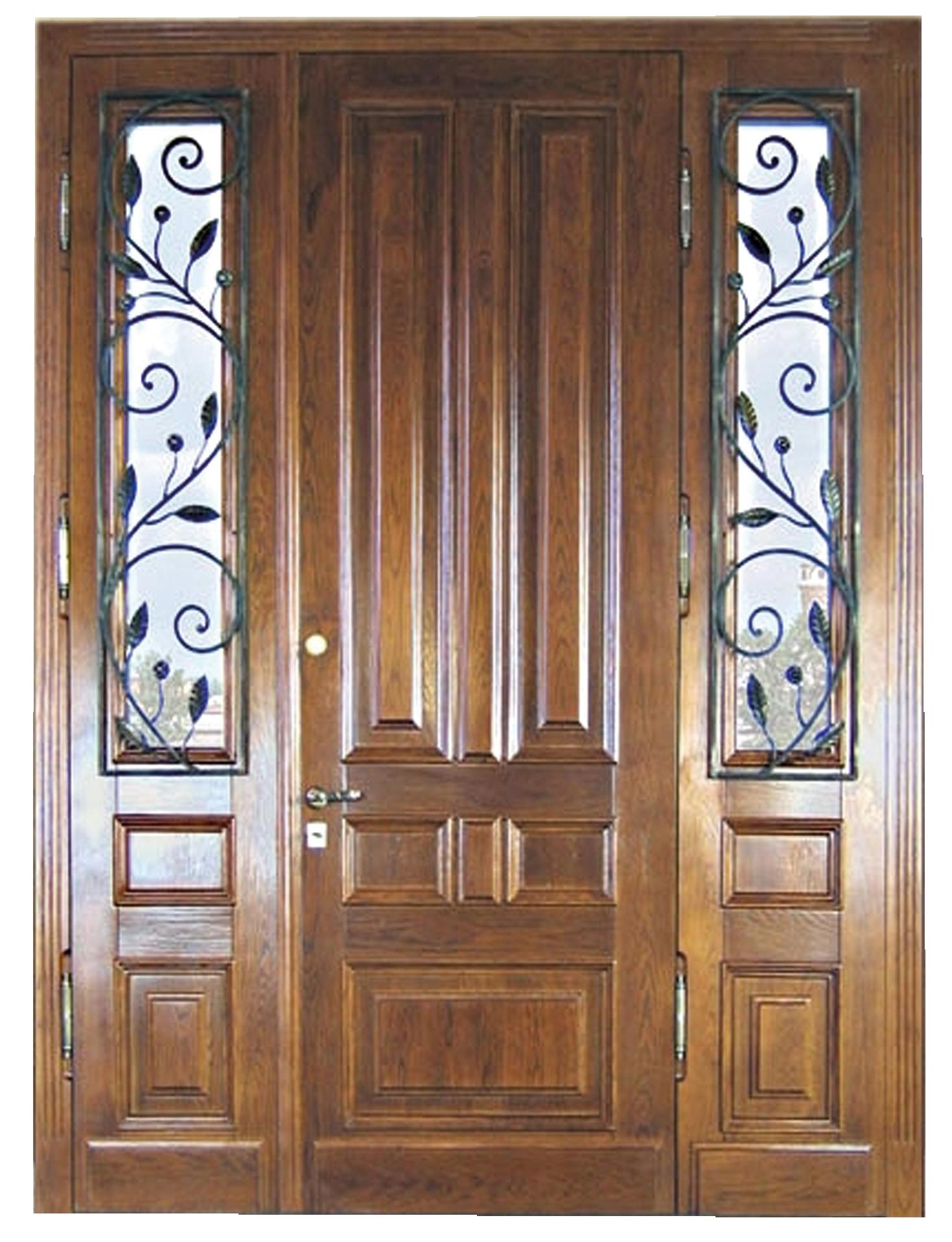 красивые входные двери в дом со стеклом