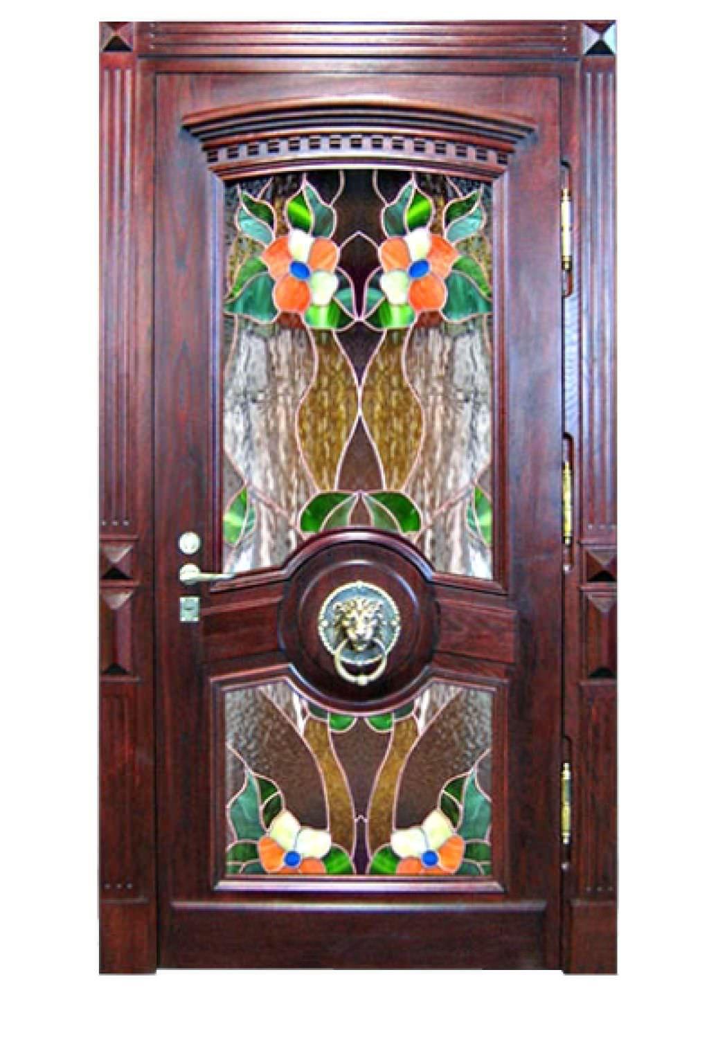 металлические витражи двери