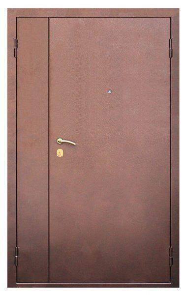 двери металлические входные двойные распашные