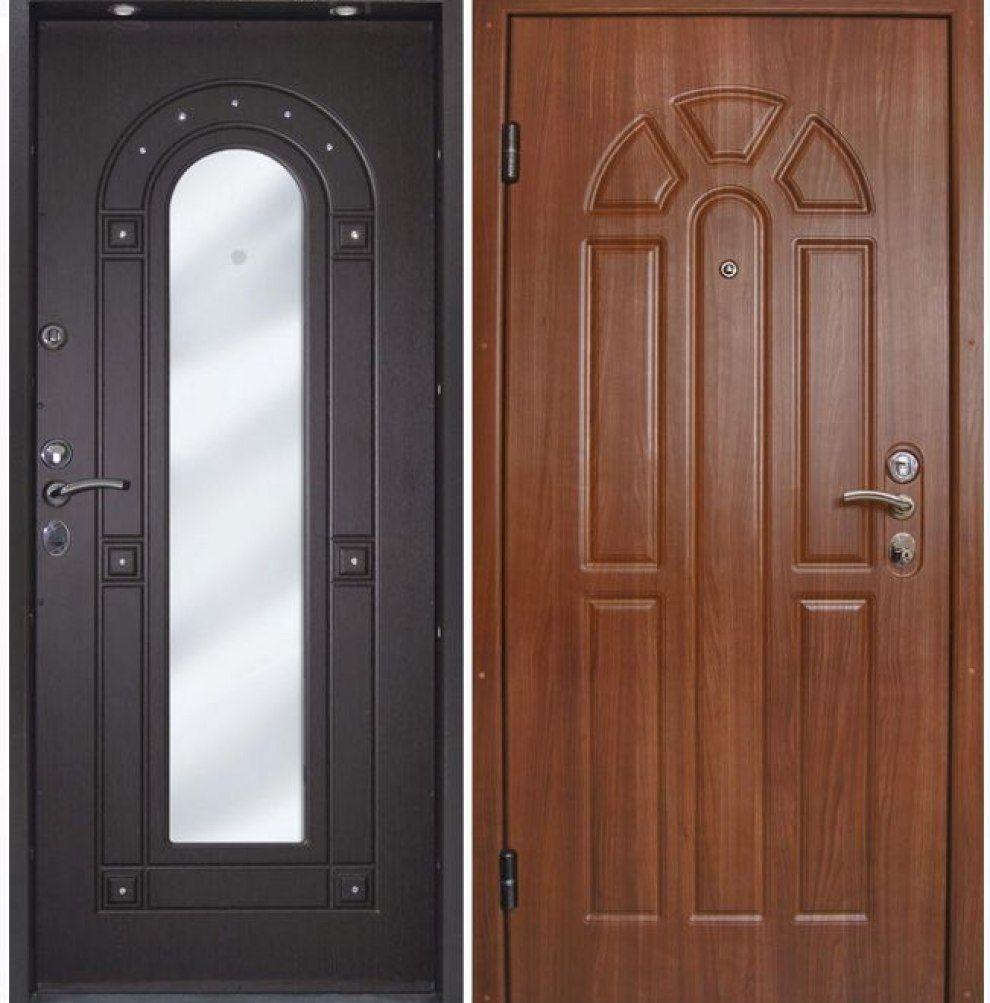 металлические двери москва с зеркальной обратной стороной