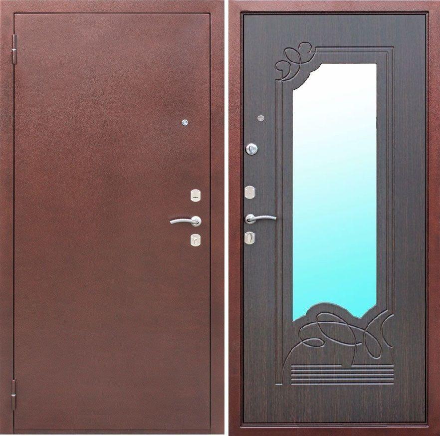 двери входные металлические венге зеркало