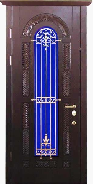 двери входные металлические со стеклопакетом нестандартные