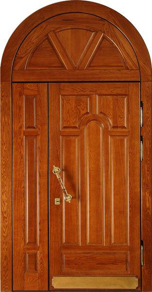 входная стальная дверь из массива дуба