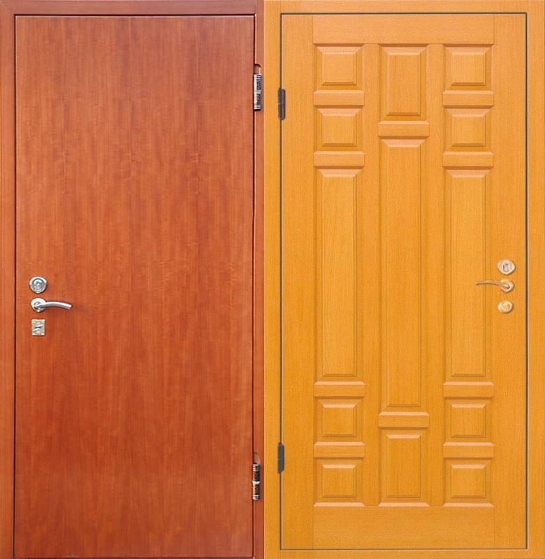 металлические двери мдф ламинированный