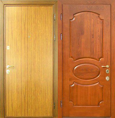 ламинированная вторая входная дверь в квартиру