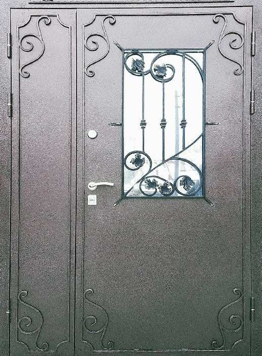 дверь металлическая двустворчатая со