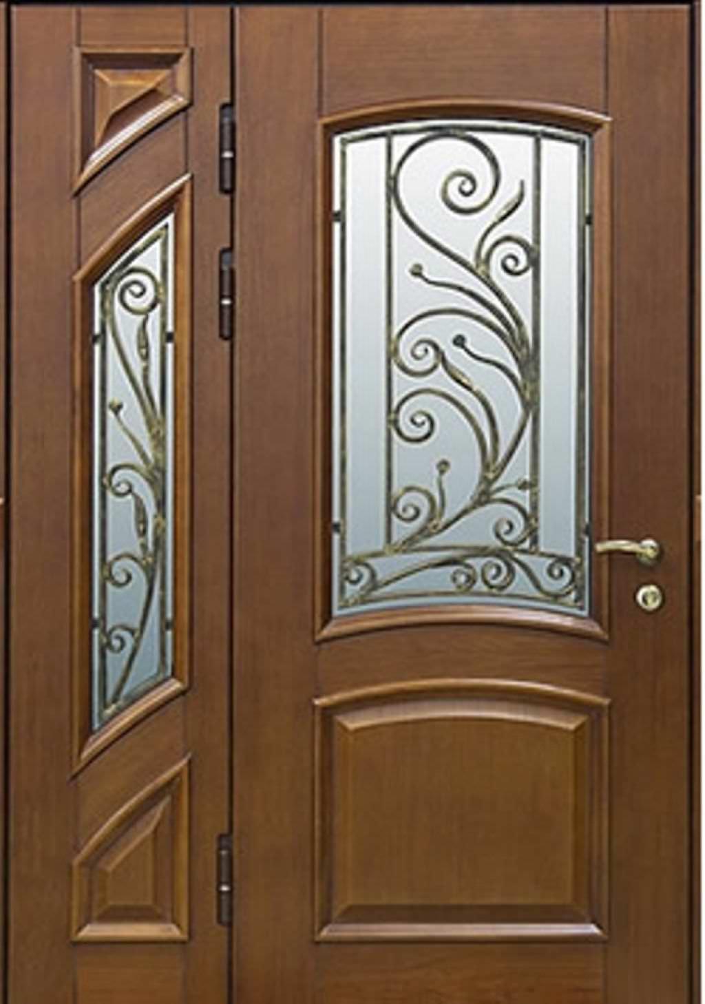 двустворчатые железные двери цена