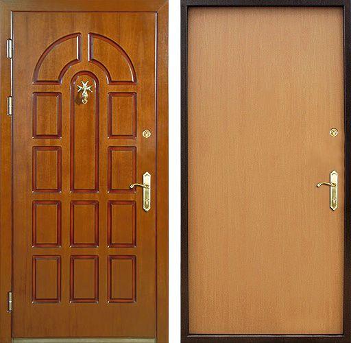 нестандартные стальные металлические двери с отделкой мдф