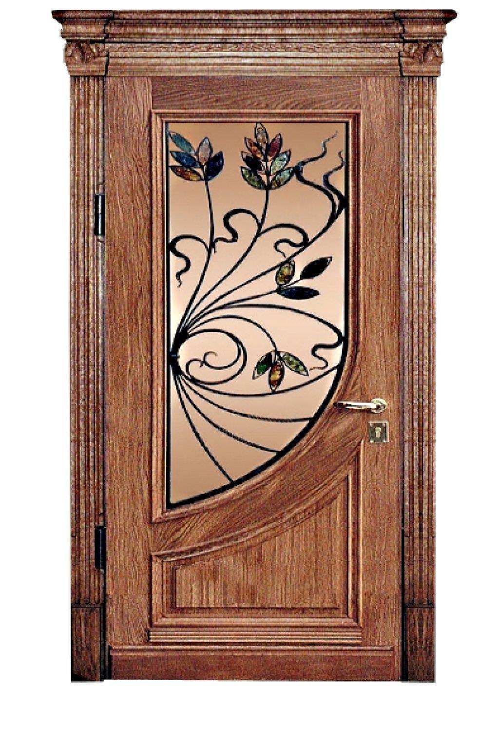 дверь железная витраж