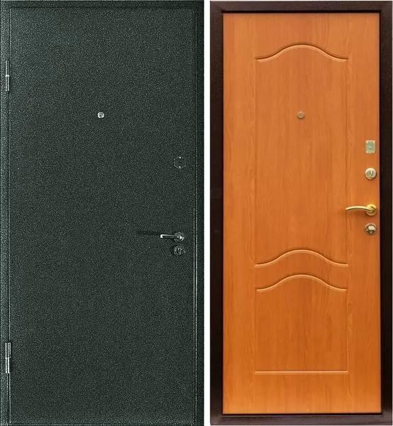металлические двустворчатые двери с порошковым напылением