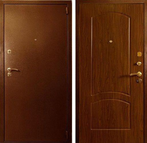 дверь входная эконом венге