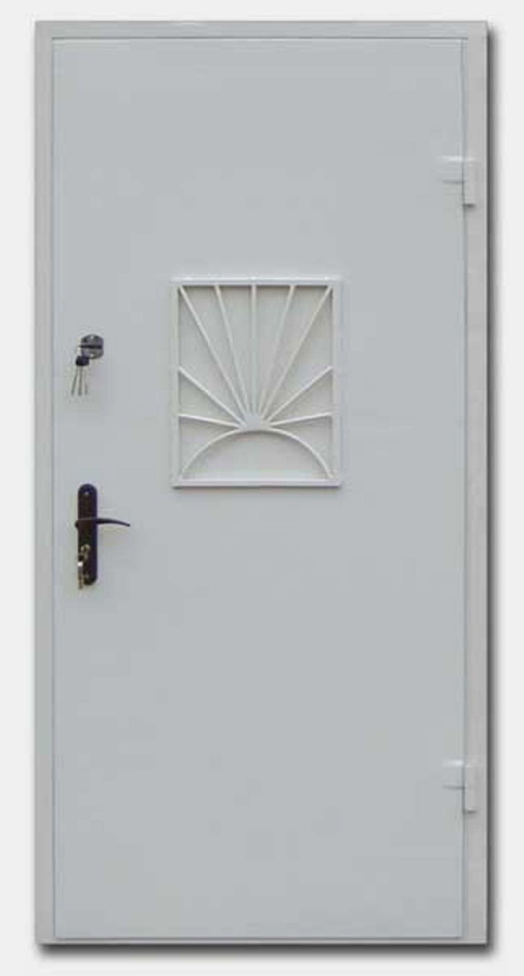 стальные двери с кассовым окном