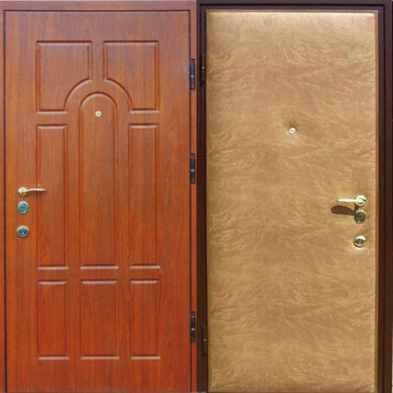 облицовка стальных дверей