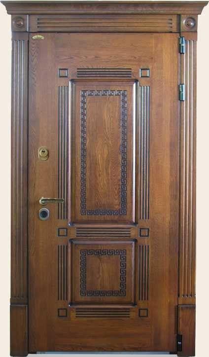 железные двери из массива