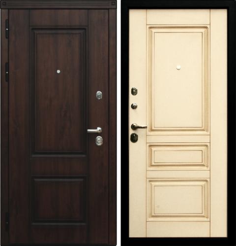 классические металлические двери белые