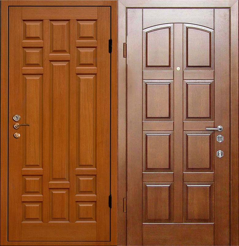 двери металлические входные филенчатые