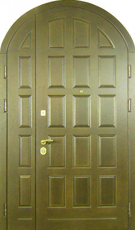 металлическая дверь с арочным верхом