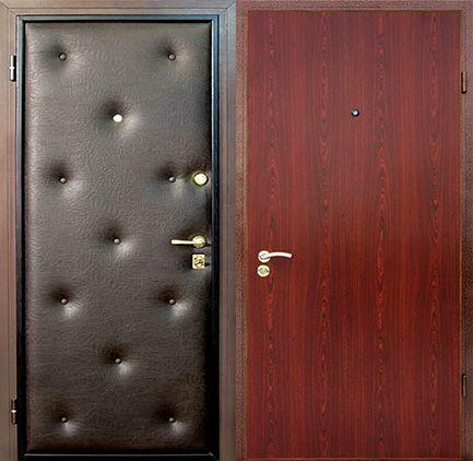 дешевая металлическая входная дверь с отделкой ламинатом 6000 рублей