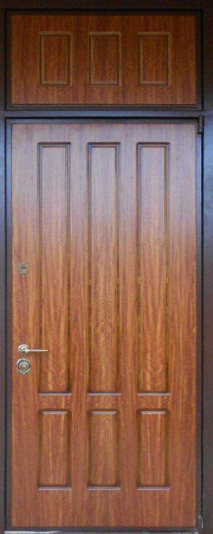 входные железные двери с фрамугой