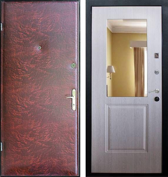 металлическая дверь входная эконом класса на заказ