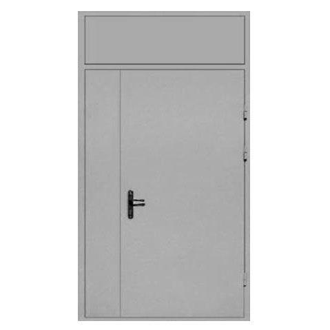 металлические двери с фрамугами
