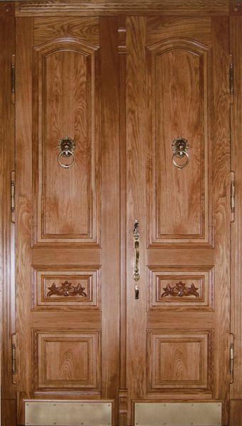 двухстворчатые двери входные резные