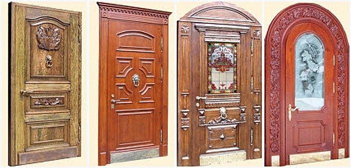 элитные входные двери для дома из дубовые