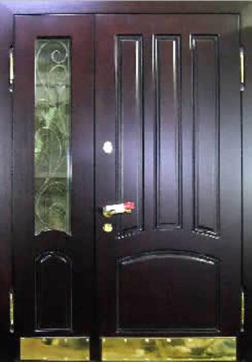 металлические двери холодные двухстворчатые