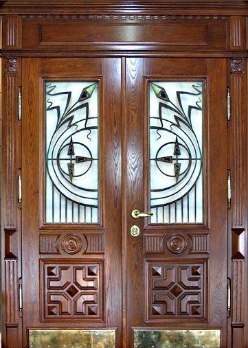 эксклюзивные входные двери со стеклом для загородного дома